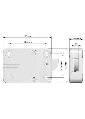Замок электронный для сейфа M-LOCKS EM2020 + панель AL3010