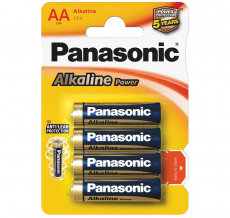 Батарейки Panasonic ALKALINE POWER AA BLI 4 (LR6REB/4BP)