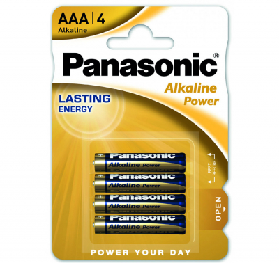 Батарейки Panasonic ALKALINE POWER AAA BLI 4 (LR03REB/4BPR)