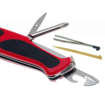 """Нож Victorinox Delemont, """"RangerGrip 78"""", 130 мм, красный/черный 0.9663.MC"""